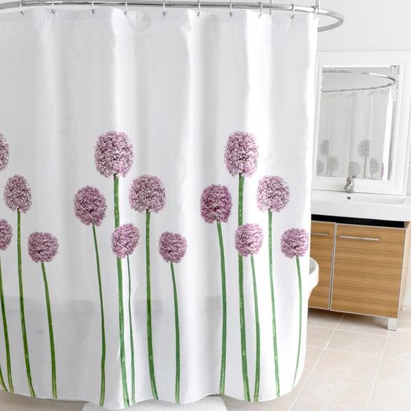 """Allium Lavender Fabric Shower Curtain (70""""x72"""")"""