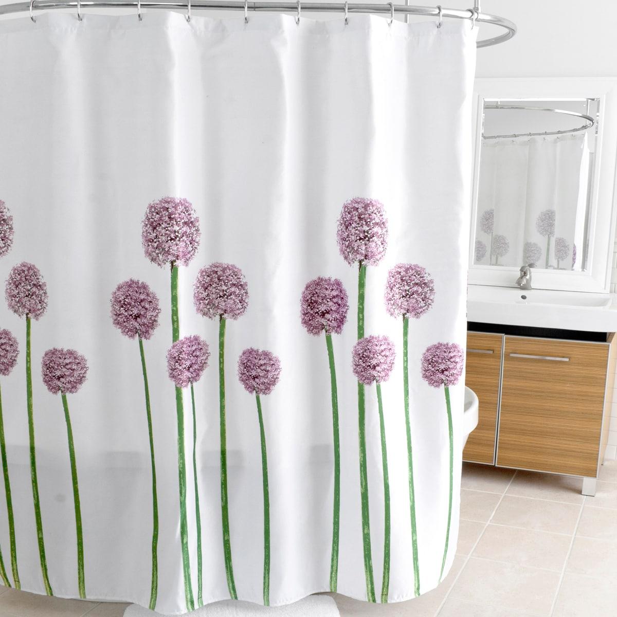 """Allium Lavender (Purple) Fabric Shower Curtain (70""""x72"""") ..."""