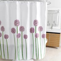 "Allium Lavender Fabric Shower Curtain (70""x72"")"