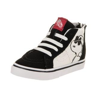 Vans Toddlers Sk8-Hi Zip Peanuts Black Canvas Skate Shoes