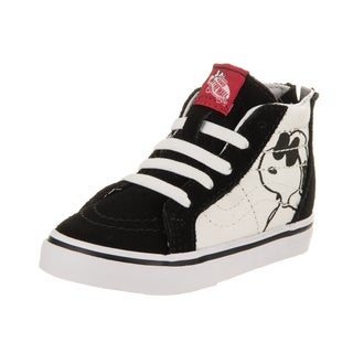 Vans Toddlers Sk8-Hi Zip Peanuts Black Canvas Skate Shoes