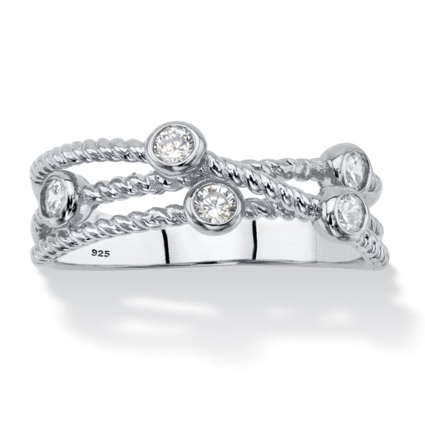 Sterling Silver Cubic Zirconia Ring - White