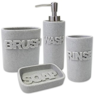 Wash 4 Piece Bath Accessory Set or Separates