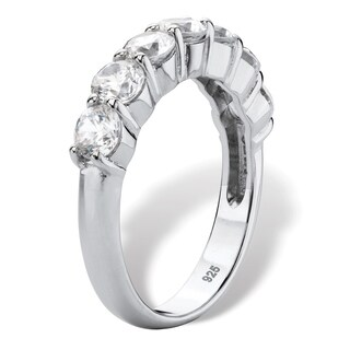 Round Cubic Anniversary Zirconia 1.75 TCW in Platinum over Sterling Silver Classic CZ