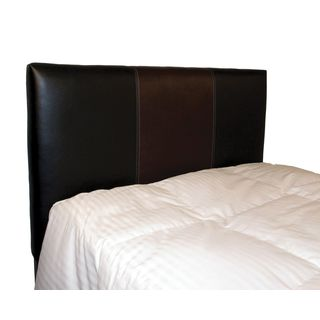 Brighton Home Furniture Black/ Pecan Vinyl Twin-size Split Headboard