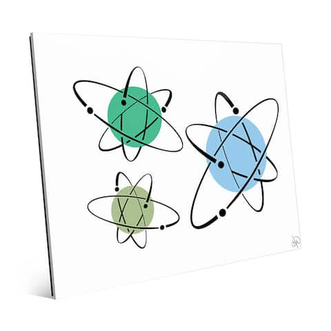 Cooler Atoms Astrobursts Wall Art Print on Glass