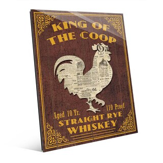 King Of The Coop Vintage Sign Wall Art Glass Print