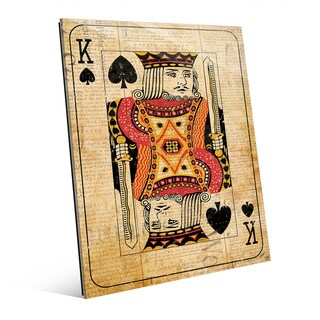 Vintage King Red Playing Card Wall Art Glass Print (2 options available)