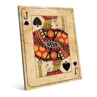 Vintage Jack Red Playing Card Wall Art Glass Print