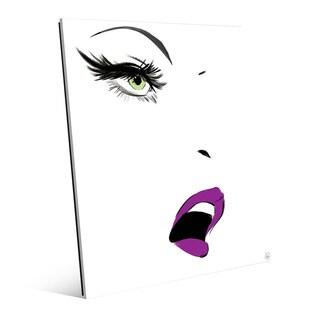 Mascara Stare Peridot Wall Art Print on Glass