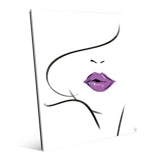 Mauve Lipstick Wall Art Print on Glass