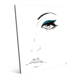 Cyan Eyeshadow Wall Art Print on Glass (2 options available)