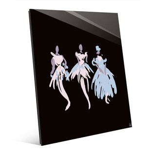 Ballerinas in Blush Abstract Wall Art Glass Print