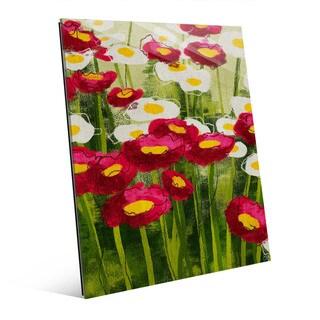 Spring Wildflowers Wall Art Print on Glass