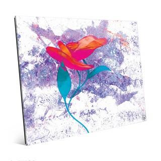 Cerise Bloom-Single Flower Wall Art Print on Glass
