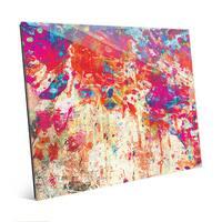 Splatter Shop Abstract Wall Art Print on Glass