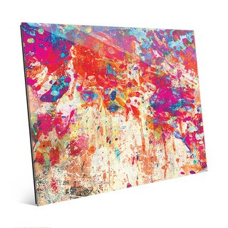 Splatter Shop Abstract Wall Art Print on Glass