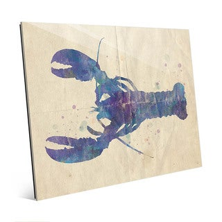 Colorful Watercolor Lobster Wall Art Glass Print