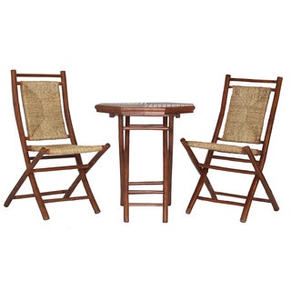 Lana'i Wood Indoor/ Outdoor 3-piece Bistro Set