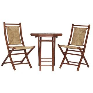 Lana'i Wood Indoor/ Outdoor 3-piece Bistro Set (2 options available)