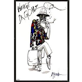 Ralph Steadman 'Dr Gonzo' Black Thin Framed Poster