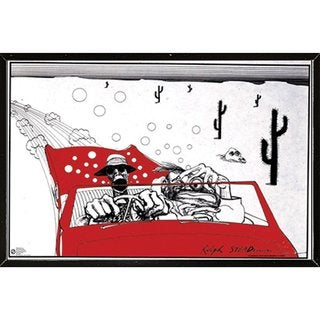 Ralph Steadman 'Fear and Loathing' Black Thin Framed Poster
