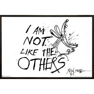 Ralph Steadman 'I'm Not Like The Others' Walnut Wood Framed Poster