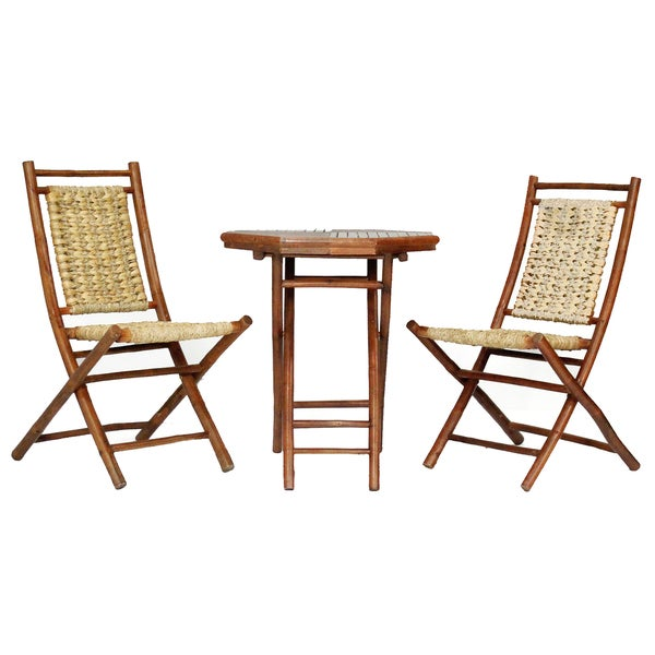 Kauai 3 Piece Indoor Outdoor Bistro Set