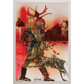 Ralph Steadman 'Hell Hound Fahrenheit 451' Framed Poster