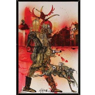 Ralph Steadman 'Fahrenheit 451 Hell Hound' Framed Poster