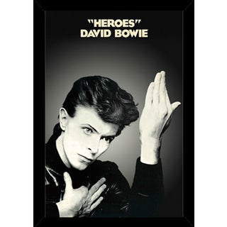 David Bowie - Heroes Poster in a Black Wood Frame (24x36)
