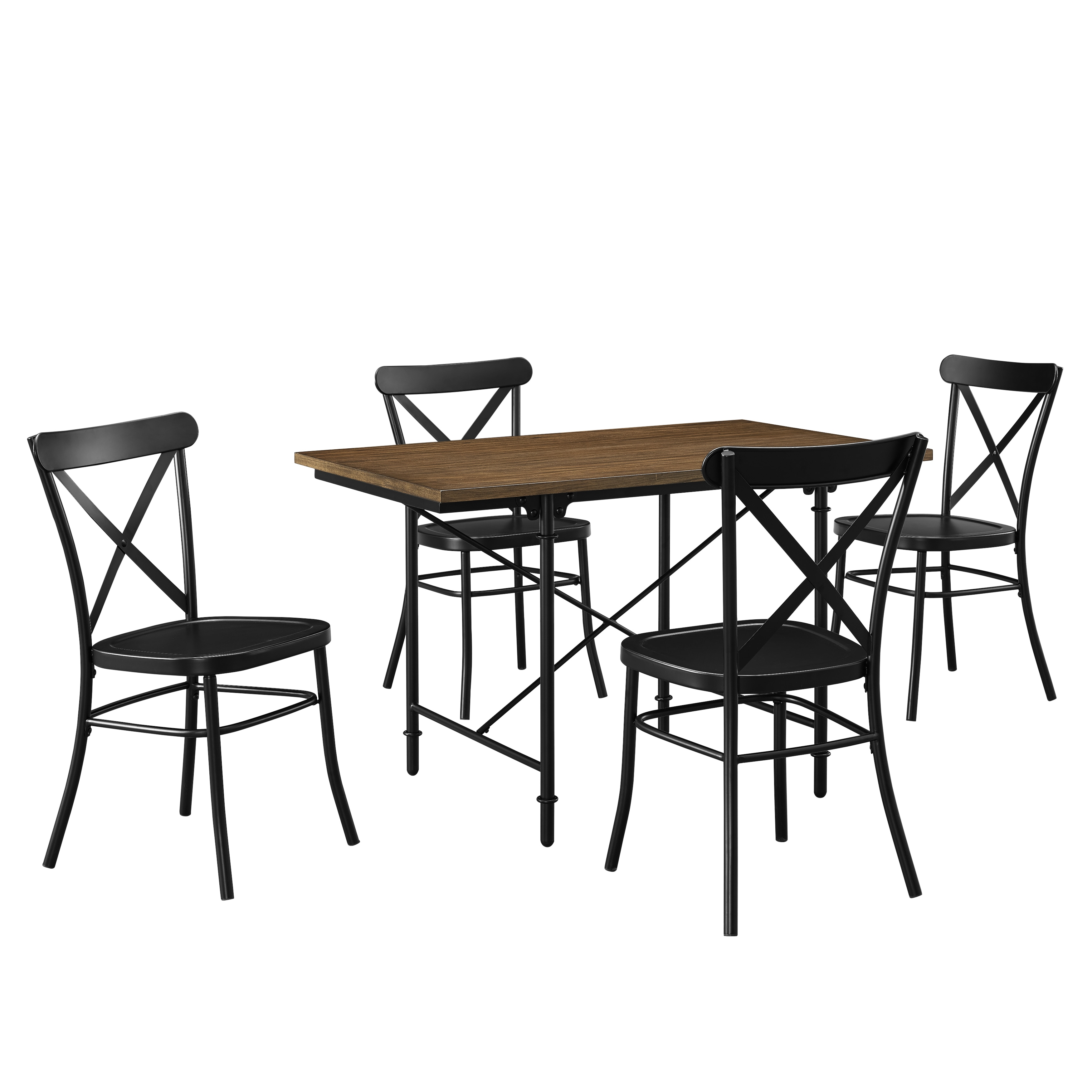 Pulaski Industrial Wood and Metal 5-piece Dining Set (Col...