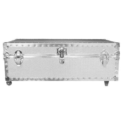Underbed Steel Trunk with Wheels - (Smooth or Embossed)