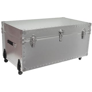 Smooth Steel Trunk with Wheels-