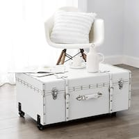 The Designer Wheeled Trunk - White