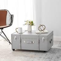 The Designer Wheeled Trunk - Harbor Grey