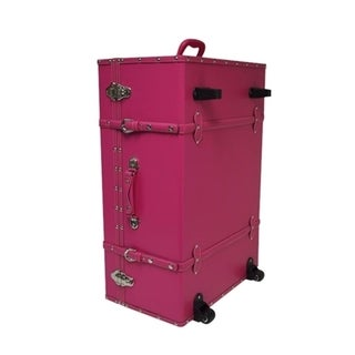 The Designer Wheeled Trunk - Cherry Pink