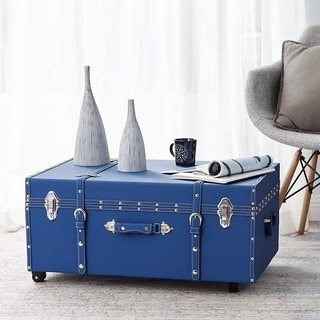 The Designer Wheeled Trunk - Pacific Blue