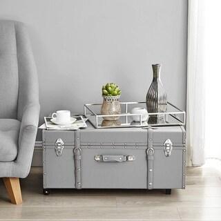 The Designer Wheeled Trunk - Hex Grey