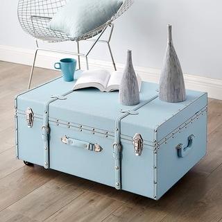 The Designer Wheeled Trunk - Calm Blue