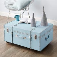 The Designer Wheeled Trunk - Calm Blue