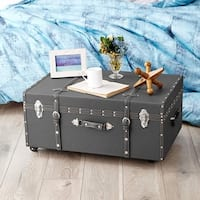 The Designer Wheeled Trunk - Charcoal