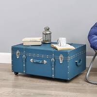 The Designer Wheeled Trunk - Mallard Blue