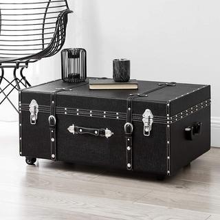 The Designer Wheeled Trunk - Black