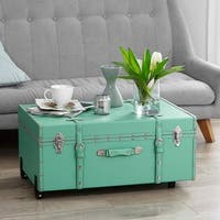 The Designer Wheeled Trunk - Baby Mint