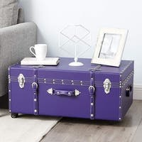 The Designer Wheeled Trunk - Plum