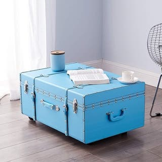 The Designer Wheeled Trunk - Cyan Blue|https://ak1.ostkcdn.com/images/products/16343113/P22703570.jpg?impolicy=medium