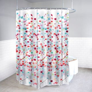Mansi Fabric Shower Curtain and Hooks Set or Separates