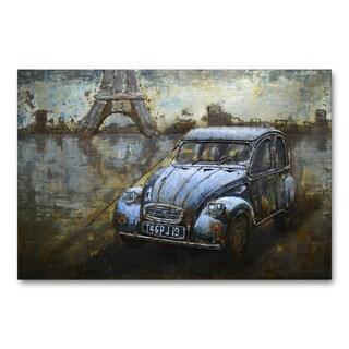 Benjamin Parker 'Vintage Eiffel' 31-in by 47-in Dimensional Metal Wall Art