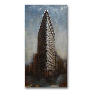 Benjamin Parker 'Flat Iron Building' 30-in by 59-in Dimensional Metal Wall Art